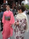 Japonės tautiniais drabužiais, Senso-ji, Tokyo
